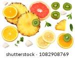 healthy background. slices of... | Shutterstock . vector #1082908769