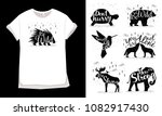 silhouette of animals for t... | Shutterstock .eps vector #1082917430
