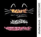 vector print for t shirt. cute... | Shutterstock .eps vector #1082922680