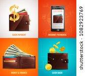 realistic wallet design concept ...   Shutterstock .eps vector #1082923769