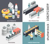 process of milk and cheese... | Shutterstock .eps vector #1082923859