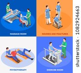 physiotherapy rehabilitation... | Shutterstock .eps vector #1082924663
