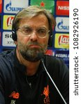 Small photo of ROME, ITALY - MAY 1,2018: Jurgen Klopp coach of Liverpool during the Liverpool Press Conference for Uefa Champions League at the Olimpic Stadium in Rome.