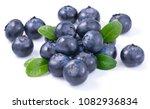 blueberries isolated on white... | Shutterstock . vector #1082936834