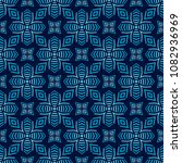 blue seamless pattern with... | Shutterstock . vector #1082936969