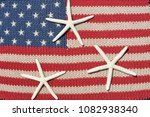 american flag with three white... | Shutterstock . vector #1082938340