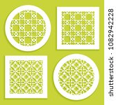 templates for laser cutting ... | Shutterstock .eps vector #1082942228
