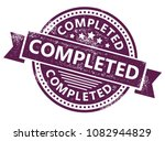 completed rubber stamp | Shutterstock .eps vector #1082944829