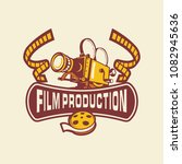 film production logo | Shutterstock .eps vector #1082945636