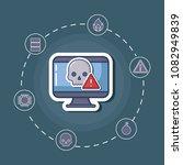 cyber security design | Shutterstock .eps vector #1082949839