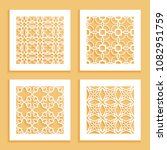 templates for laser cutting ... | Shutterstock .eps vector #1082951759