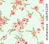 seamless delicate pattern of... | Shutterstock .eps vector #1082952359