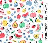 cartoon berries and fruits ... | Shutterstock .eps vector #1082957393