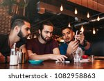 group of mixed race young men... | Shutterstock . vector #1082958863