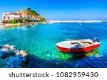 kokkari village beach view.... | Shutterstock . vector #1082959430