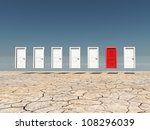One Red Door Among Several...