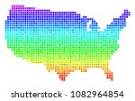 dotted usa map. vector... | Shutterstock .eps vector #1082964854