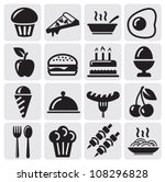 food icons | Shutterstock .eps vector #108296828