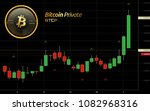 bitcoin private cryptocurrency... | Shutterstock .eps vector #1082968316