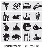 food drink icons | Shutterstock .eps vector #108296840