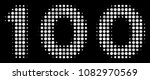 100 text halftone vector icon.... | Shutterstock .eps vector #1082970569
