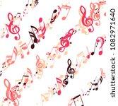 lines of musical notes. modern... | Shutterstock .eps vector #1082971640