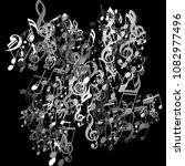musical notes. modern...   Shutterstock .eps vector #1082977496