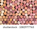Wine Corks Background. Top View