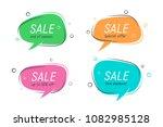 flat speech bubble shaped... | Shutterstock .eps vector #1082985128