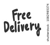 free delivery. sticker for... | Shutterstock .eps vector #1082985374