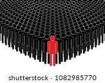 leader and crowd. people... | Shutterstock .eps vector #1082985770