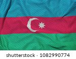 azerbaijan flag printed on a... | Shutterstock . vector #1082990774