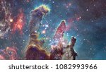 cosmic galaxy background with... | Shutterstock . vector #1082993966