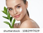 beauty face care. woman with... | Shutterstock . vector #1082997029