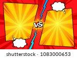comic book versus template... | Shutterstock .eps vector #1083000653