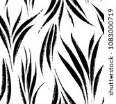 tropical leaves  jungle pattern.... | Shutterstock .eps vector #1083000719