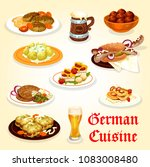 german cuisine icon with... | Shutterstock .eps vector #1083008480