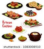 korean cuisine icon of... | Shutterstock .eps vector #1083008510
