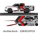 pickup truck livery graphic...   Shutterstock .eps vector #1083010910