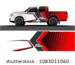 pickup truck livery graphic... | Shutterstock .eps vector #1083011060