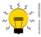 conceptual lightbulb icon with... | Shutterstock .eps vector #1083018686