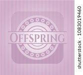 offspring pink emblem. vintage.   Shutterstock .eps vector #1083019460