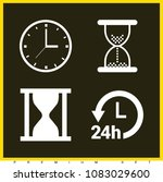 set of 4 clock filled icons... | Shutterstock .eps vector #1083029600
