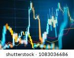 business candle stick graph... | Shutterstock . vector #1083036686