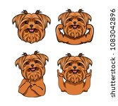 yorkshire terrier dog. muscles  ... | Shutterstock .eps vector #1083042896
