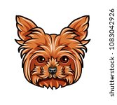 dog yorkshire terrier portrait. ... | Shutterstock .eps vector #1083042926