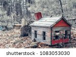 Old Wooden Toy House In Woods