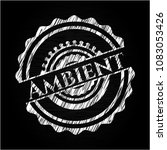 ambient written on a blackboard | Shutterstock .eps vector #1083053426