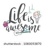 trendy t shirt design with... | Shutterstock .eps vector #1083053870