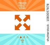 extend  resize icon. cross...   Shutterstock .eps vector #1083057878